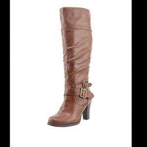 Style&co. Women's Rudyy Slouch Boots Cognac